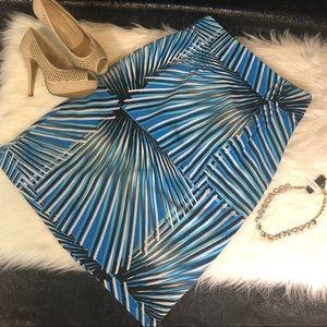 Dresses & Skirts - Blue pattern pencil skirt